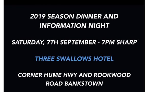 2019/2020 Pre Season Information Night